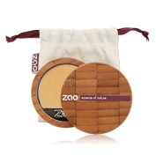 Zao Compact Foundation 728 LIGHT OCHRE LIGHT/Beige/Gelb, Compact Makeup Foundation in a Refillable Bamboo Container Certified Bio/Vegan Natural Cosmetic - 101728