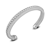 Hosaire 1X Charm Fashion Crystals Mesh Silver Bracelet For Women Girls Present