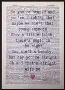 Bruce Springsteen Thunder Road Lyrics Vintage Dictionary Page Print Wall Art