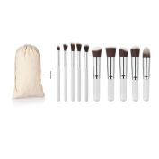 10 Piece Professional Makeup Brush Set with Synthetic Hair for Your Cosmetic Needs (Face Eye) Liquid Cream Powder Mineral
