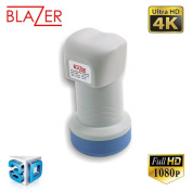 Blazer SingleX 0.1db Single Universal LNB UHD 3D 1080p HD Digital Satellite TV Aerial