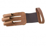 NEW 3 Finger Archery Protect Glove Leather Handmade Shooting Glove For Hunting Medium