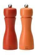 Peugeot Tahiti Herbst 2/33286 Pepper and Salt Mill Set, Orange/Peach - 5.5 x 5.5 x 15 cm