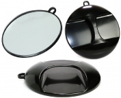 TekNoh - Magic Salon - Black Round Hangable Mirror - High Quality - Stylist Hand Mirror