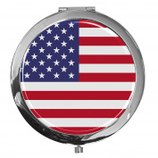 Pocket mirror / Flag United States / Double enlargement