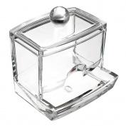 Supply EU Cosmetic Q-tip Cotton Swabs Acrylic Holder Storage Box