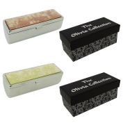 Lip Stick Case Holder with Mirror Gift Set Of Two SC1482 - The Olivia Collection