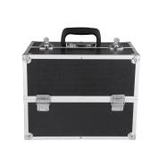 iKayaa Professional Aluminium Beauty Makeup Train Case Organiser Locking Vanity Box Storage Bag