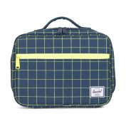 Herschel Cosmetic Case blue Navy Grid/Neon Lime unica