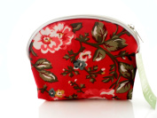 Red Floral Cosmetic Bag Makeup Purse Stocking Filler