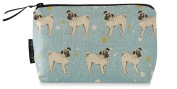Pug makeup bag - blue