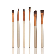 HimanJie Makeup Brushes, Professional 6 Pieces Makeup Brush Set Makeup Cosmetics Brushes Set Professional Eyes Makeup Brush