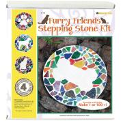 Mosaic Stepping Stone Kit-Furry Friends