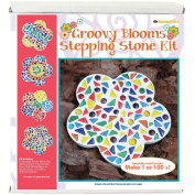 Mosaic Stepping Stone Kit-Groovy Blooms