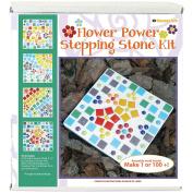 Mosaic Stepping Stone Kit-Flower Power