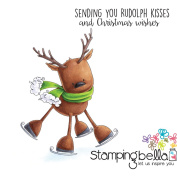 Stamping Bella Cling Stamp 17cm x 11cm -Rudolph The Skating Reindeer