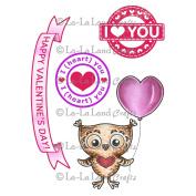La-La Land Cling Stamps 11cm x 8.9cm -Owl Love You