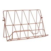 . Copper Plated Vertex Cookbook Holder Kitchen Accessory Storage Rack
