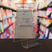 EPOSGEAR 25 XL Extra Large Clear Perspex Acrylic Plastic Book Retail Display Stand Holder - Perfect for books, plates, mobile phones, tablets etc in shops or at home!