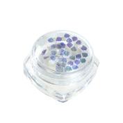 Demiawaking Nail Art Tips Paillette Sequins DIY Manicure Blue Nail Glitter Decoration