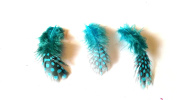 5 Pcs 3D Nail Art Chicken Feathers Turquoise Nail Design Set Nail Art Manicure Pedicure Insert Accessories
