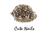Approx. 100 Rhinestones Gold Approx. 2.4 mm 14 facets - Cute Nails