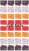 600 Red Rhinestones Approx 3-7 mm Assorted Shapes - Cute Nails