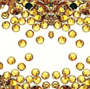 100 Rhinestones Gold 2 mm 14 facets - Cute Nails