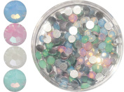 1 A Quality Nail Rhinestones in Tins, Pack of 100, Size