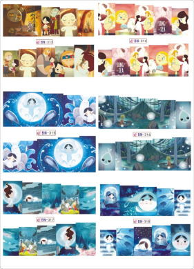 12 Pieces Water Transfer Nail Art Cartoon Decals, Nail Art Water Slide Tattoo Stickers Decals (The Song of the Ocean)