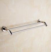 Aothpher Wall Mounted 304 Stainless Steel Double Bathroom Towel Bar ,Chrome Finished 40cm