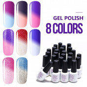 Sexy Mix Gel Nail Polish Colours Sets,UV Colour Changing Nail Polish Kit 8 Colours