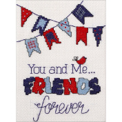 My 1St Stitch Friends Forever Mini Counted Cross Stitch Kit-13cm x 18cm 14 Count