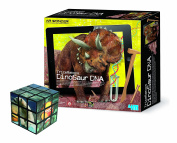 Top Learning Dig & Discover Triceratops Dinosaur DNA - Fun Discovery with FREE 3D Animal Puzzle Cube - Fun Educational Toy Set - Perfect Gift Present Idea for Christmas Xmas Stocking Filler Top Up Birthday Easter or Treat Reward Pocket Money Idea Toys ..