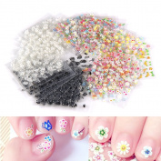 MultiWare 3D Design Nail Art Sticker Self-adhesive Tip Nail Decals Decorations 50 Sheets