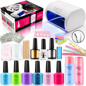 LED LAMP 2017 CCO OFFICIAL UV LED GEL POLISH NAIL PROFESSIONAL STARTER COMPLETE HOME DIY KIT + CCO LATEST POWERFUL LED LAMP + GIFT PRESENT BOX SET + 3 FREE colour GELS