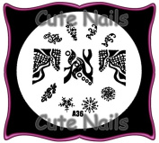 Stampingschablone A36 French Net - Snowflake - Cute Nails