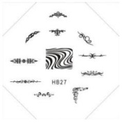Stampingschablone HB27 - Tribal Tattoos Pattern Zebra Heart Wings Design Stamping Stencil Cute Nails