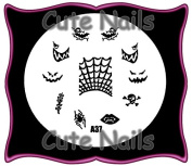 Halloween - Gothic Stampingschablone A37 From The Cute Nails