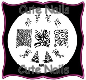 Stampingschablone A31 - Ornamental French cm Tribal Cute Nails