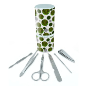 Manicure Pedicure Grooming Beauty Personal Care Travel Kit (Tweezers,Nail File,Nail Clipper,Scissors) - Reptiles Lizards Snakes Frogs Chameleon Blending in Leaves Lizard Reptile