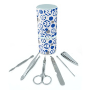 Manicure Pedicure Grooming Beauty Personal Care Travel Kit (Tweezers,Nail File,Nail Clipper,Scissors) - Medical MD RN EMT Star of Life Symbol Rod of Asclepius