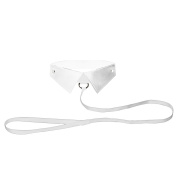 Ouch! White Classic Collar with Leash