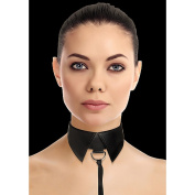 Ouch! Black Classic Collar with Leash
