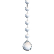 H$D 30MM Crystal ball pendant and Octagon Beads Chain with silver round buckle constitute