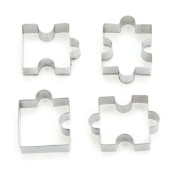 ODN 4pc Stainless Steel Puzzle Shape Biscuit Cookies Baking Mould Mould Pastry