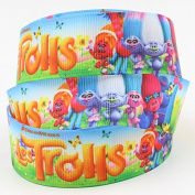 2m x 22mm TROLLS GROSGRAIN RIBBON FOR BIRTHDAY CAKE'S, WEDDING CAKES, GIFT WRAP WRAPPING MOTHERS DAY