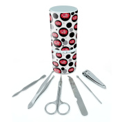 Manicure Pedicure Grooming Beauty Personal Care Travel Kit (Tweezers,Nail File,Nail Clipper,Scissors) - I Love Heart My Wife Red
