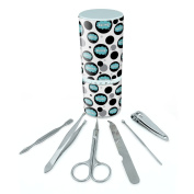 Manicure Pedicure Grooming Beauty Personal Care Travel Kit (Tweezers,Nail File,Nail Clipper,Scissors) - Dreaming Of P-W Skiing Blue