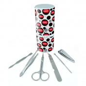 Manicure Pedicure Grooming Beauty Personal Care Travel Kit (Tweezers,Nail File,Nail Clipper,Scissors) - Dreaming Of F-P Ogres Red